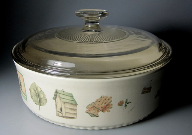 Make sure your browser can show photos and reload this page to see Pfaltzgraff China Naturewood Casserole/covered /BAKER/Round 1.5Qt. 8 5/8