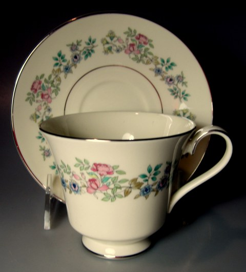 Make sure your browser can show photos and reload this page to see Minton China Summer Song Cup and saucer set 3 1/2