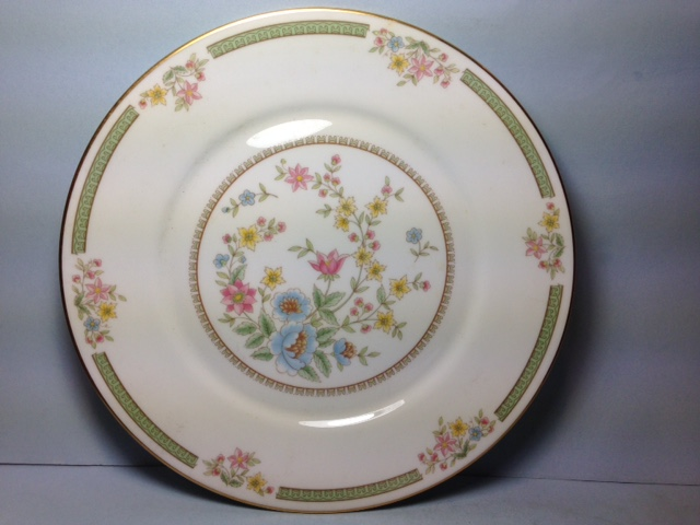 Make sure your browser can show photos and reload this page to see Oxford (Div Of Lenox) China Enchanted Hour Dinner plate -