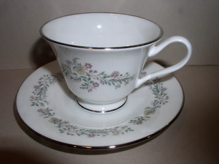 Make sure your browser can show photos and reload this page to see Oxford (Div Of Lenox) China Tenderly Cup and saucer set