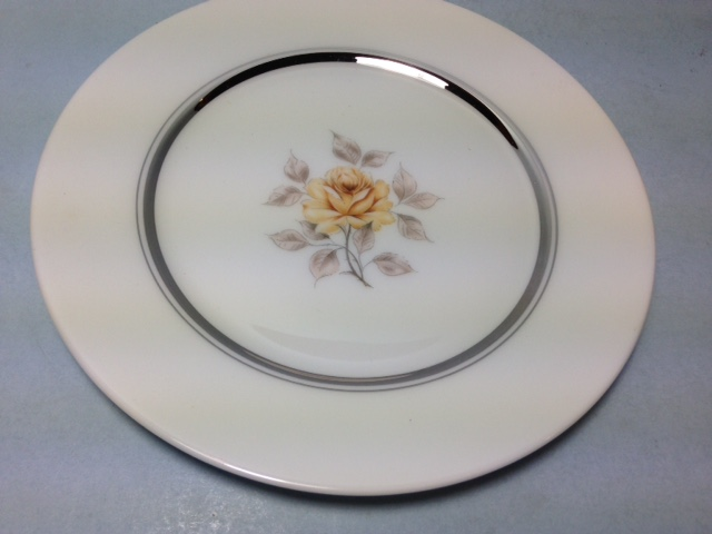 Make sure your browser can show photos and reload this page to see Oxford (Div Of Lenox) China Sharon Bread and butter plate -