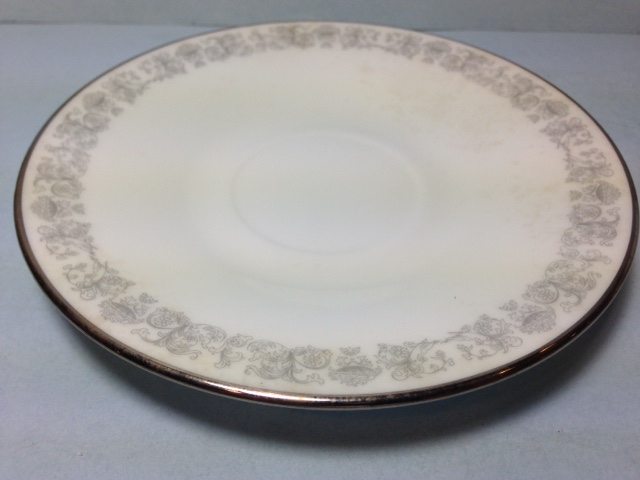 Make sure your browser can show photos and reload this page to see Oxford (Div Of Lenox) China Eventide Saucer only -