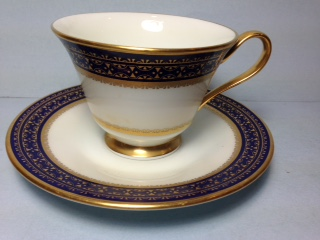 Make sure your browser can show photos and reload this page to see Oxford (Div Of Lenox) China Cortina Cup and saucer set -