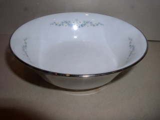 Make sure your browser can show photos and reload this page to see Oxford (Div Of Lenox) China Holyoke Cereal bowl --5 3/4