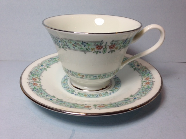 Make sure your browser can show photos and reload this page to see Oxford (Div Of Lenox) China Lady Love Cup and saucer set -