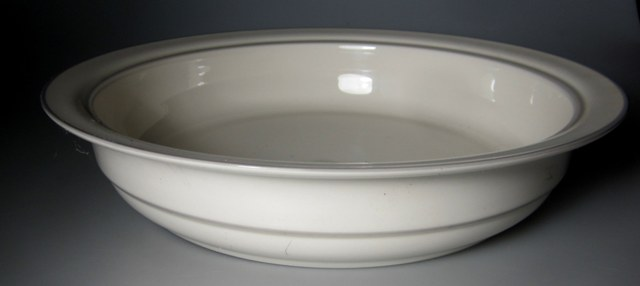 Make sure your browser can show photos and reload this page to see Lenox China For The Grey Round veg, large  9 3/4