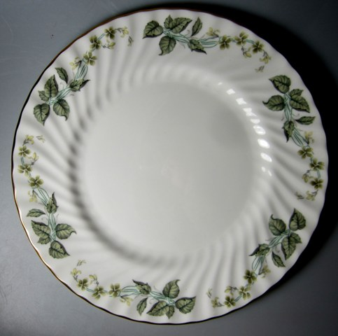 Make sure your browser can show photos and reload this page to see Minton China Greenwich S705 Dinner plate 10 1/2