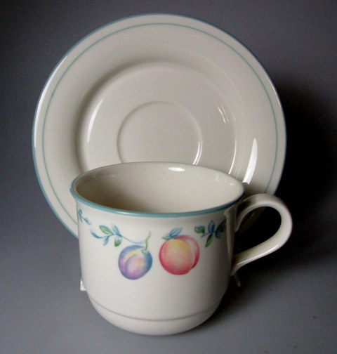 Make sure your browser can show photos and reload this page to see Lenox China Country Cottage Orchard Cup and saucer set 3 3/8