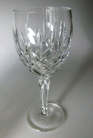Make sure your browser can show photos and reload this page to see Gorham Crystal Lady Anne Goblet, water  7 1/2